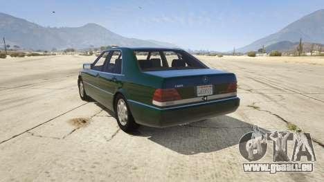 Mercedes-Benz S600 v1.1 pour GTA 5
