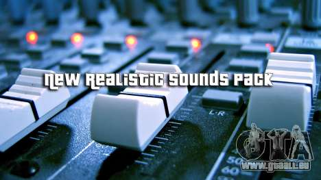 New Realistic Sounds Pack pour GTA San Andreas