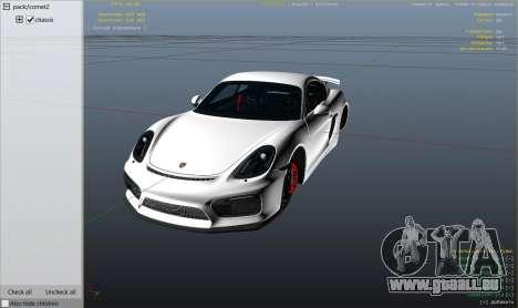 GTA 5 2016 Porsche Cayman GT4 v1.0 rechte Seitenansicht