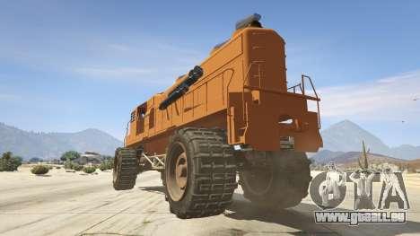 GTA 5 Monster Train hinten links Seitenansicht