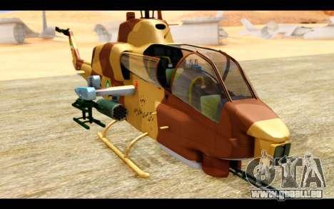 AH-1W IRIAF SuperCobra für GTA San Andreas Rückansicht
