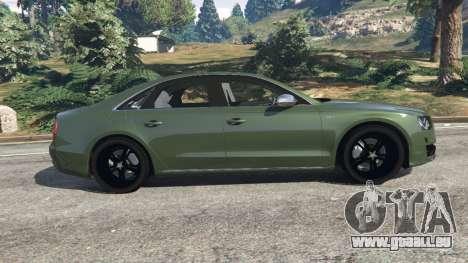 GTA 5 Audi S8 Quattro 2013 v1.2 vue latérale gauche