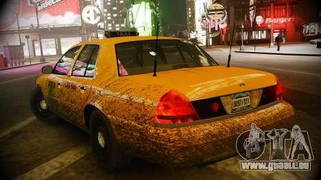 Ford Crown Victoria L.C.C Taxi pour GTA 4 Vue arrière de la gauche