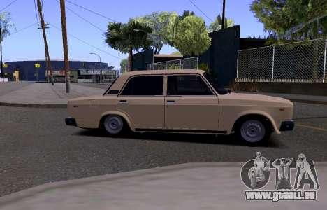 VAZ 2107 KBR pour GTA San Andreas sur la vue arrière gauche