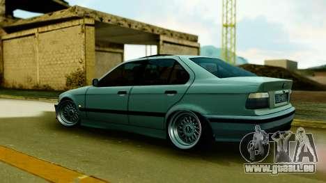 BMW 320 E36 pour GTA San Andreas sur la vue arrière gauche