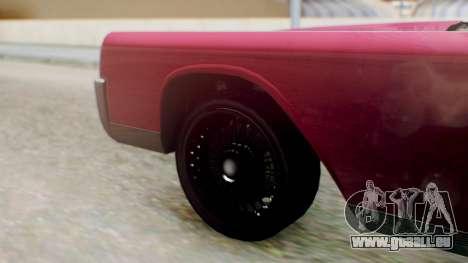 GTA 5 Vapid Chino Tunable PJ pour GTA San Andreas sur la vue arrière gauche