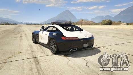 GTA 5 LAPD Mercedes-Benz AMG GT 2016 hinten links Seitenansicht