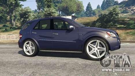 GTA 5 Mercedes-Benz ML63 (W164) 2009 linke Seitenansicht