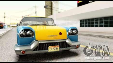GTA 5 Declasse Cabbie v2 IVF pour GTA San Andreas vue de droite