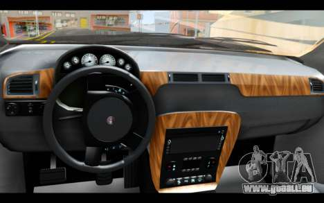 GTA 5 Declasse Granger FIB IVF pour GTA San Andreas sur la vue arrière gauche