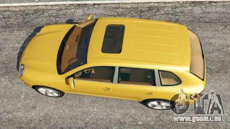 GTA 5 Porsche Cayenne Turbo 2003 vue arrière