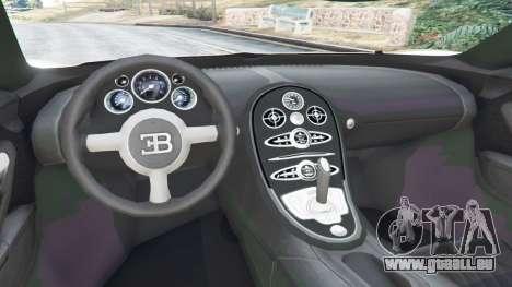 GTA 5 Bugatti Veyron Grand Sport Vitesse arrière droit vue de côté