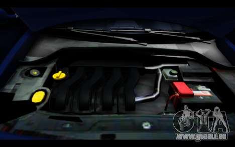 Renault Megane Sedan pour GTA San Andreas vue de dessus