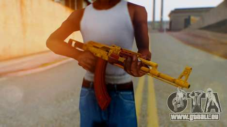 GTA 5 Assault Rifle Luxury Camo für GTA San Andreas
