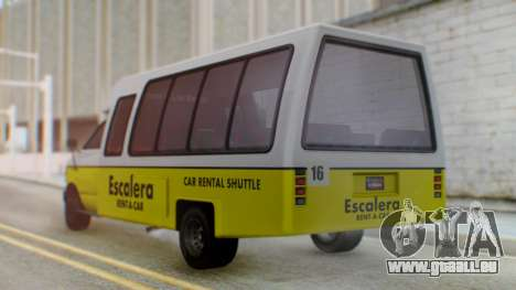 GTA 5 Rental Shuttle Bus Escalera Livery für GTA San Andreas linke Ansicht