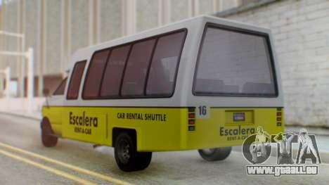 GTA 5 Rental Shuttle Bus Escalera Livery für GTA San Andreas linke Ansicht