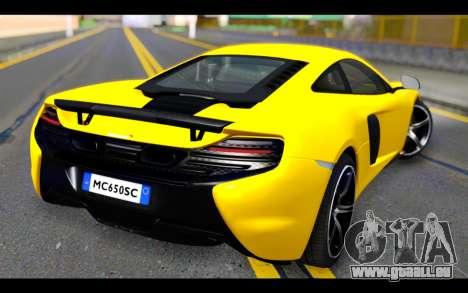 McLaren 650S Coupe für GTA San Andreas linke Ansicht