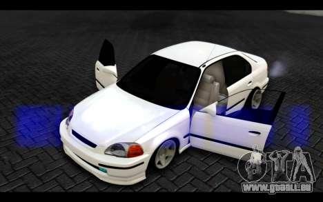 Honda Civic 1.6 pour GTA San Andreas vue de côté