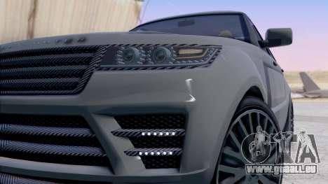 GTA 5 Gallivanter Baller LE LWB IVF pour GTA San Andreas vue arrière