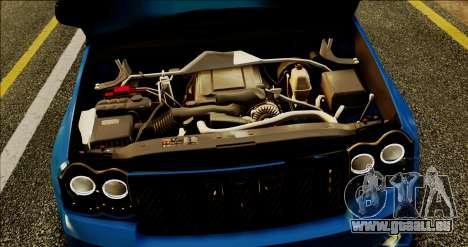 Jeep Grand Cherokee SRT8 Final version für GTA San Andreas Innenansicht