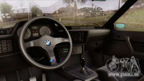 BMW M635 E24 CSi 1984 Stock pour GTA San Andreas vue arrière