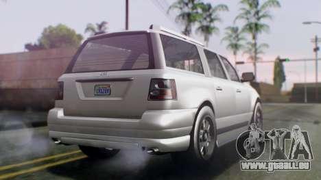 GTA 5 Dundreary Landstalker IVF pour GTA San Andreas laissé vue