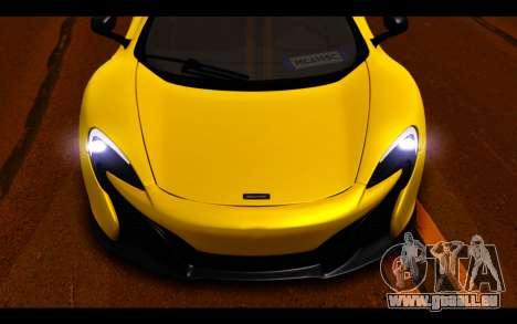 McLaren 650S Coupe pour GTA San Andreas vue de dessus