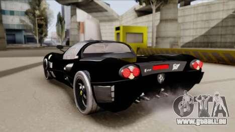 Ferrari P7-2 Shadow pour GTA San Andreas laissé vue
