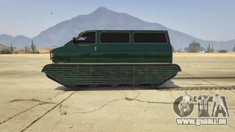 GTA 5 Police Transporter Tracked vue latérale gauche