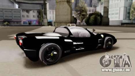 Ferrari P7-2 Shadow pour GTA San Andreas sur la vue arrière gauche