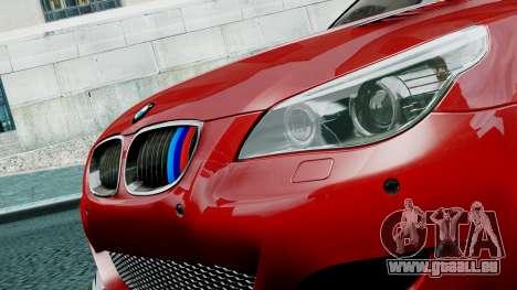 BMW M5 E60 pour GTA 4 Vue arrière