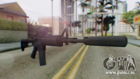 Arma Armed Assault M4A1 Aimpoint Silenced für GTA San Andreas