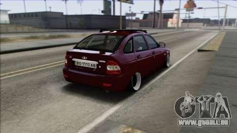 Lada Priora Ukrainian Stance pour GTA San Andreas sur la vue arrière gauche