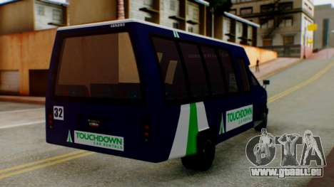 GTA 5 Rental Shuttle Bus Touchdown Livery für GTA San Andreas linke Ansicht