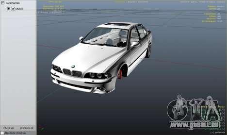 GTA 5 BMW M5 E39 1.1 droite vue latérale