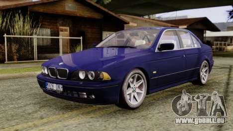 BMW 530D E39 2001 Stock pour GTA San Andreas vue de droite