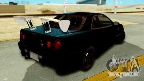 Nissan Skyline GT-R Nismo Tuned pour GTA San Andreas laissé vue