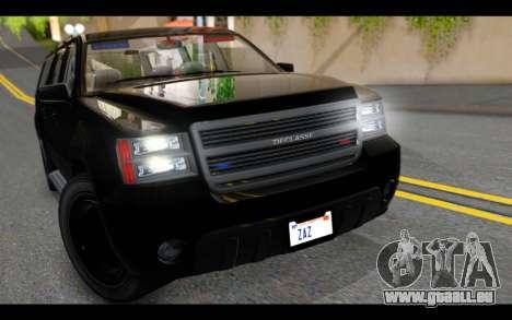 GTA 5 Declasse Granger FIB IVF pour GTA San Andreas vue arrière