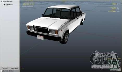 GTA 5 VAZ-2107 Lada Riva v1.2 Rückansicht