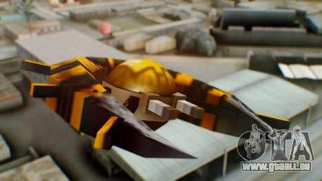 Alien Ship Yellow-Black pour GTA San Andreas sur la vue arrière gauche