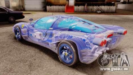 Ferrari P7 Crystal für GTA San Andreas zurück linke Ansicht