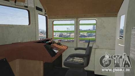 GTA 5 Monster Train arrière droit vue de côté