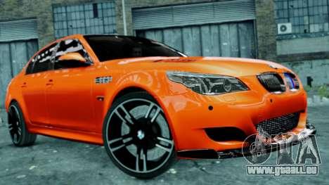 BMW M5 E60 pour GTA 4 est un côté