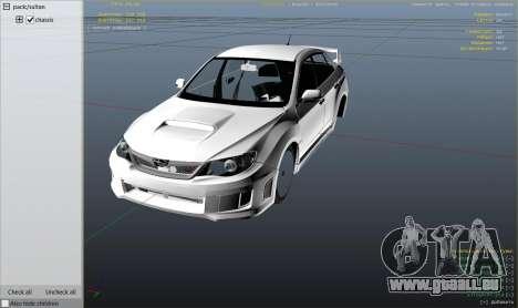 GTA 5 2011 Subaru Impreza STI droite vue latérale
