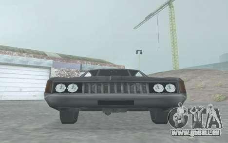 Clover Stock Car pour GTA San Andreas sur la vue arrière gauche