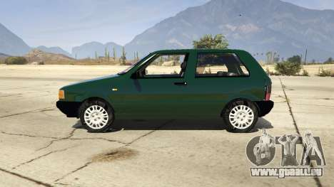 GTA 5 Fiat Uno 1995 vue latérale gauche
