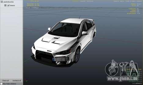 GTA 5 Mitsubishi Lancer Evolution X FQ-400 v2 Rad