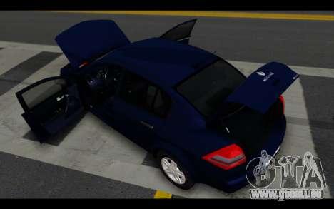 Renault Megane Sedan pour GTA San Andreas vue de dessous