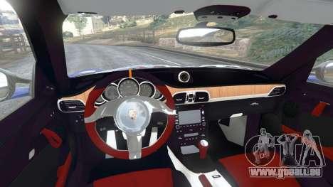 GTA 5 Porsche 997 GT2 RS arrière droit vue de côté