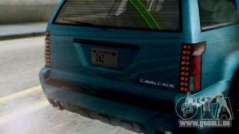 GTA 5 Albany Cavalcade II IVF pour GTA San Andreas vue arrière